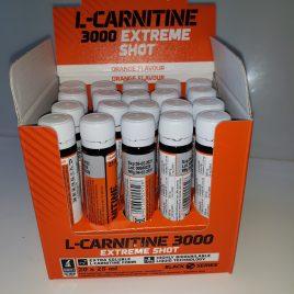 L-CARNITINE 3000 extreme shot 20×25 ml  ( a l'unité 2.05 €)